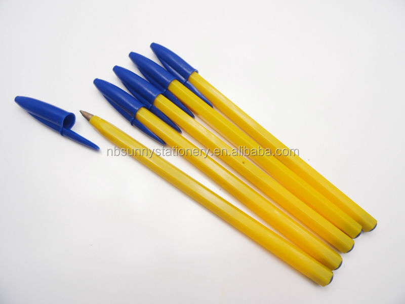 hottest selling yellow color bic plastic pen xl 1108 buy bic