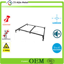 queen-king-cal king size Adjustable Low Profile bed Frame with Rug Rollers