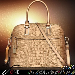 2015 New Style Genuine Leather Lady Bag Alligator Brand Totes Shell Bag Wholesale