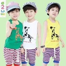2015 Wholesale Summmer Sleeveless Children Printed T-shirts