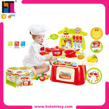 Deluxe Beauty Cooking Game Plastic Pretend Play Kitchen Set With Lights