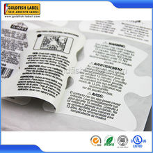 Promotional custom double layer label stickers machine printing label
