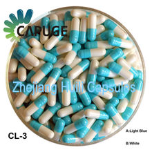 Sale blue white empty Capsules Size 1 FDA and Halal Certified