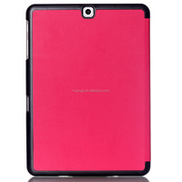 2015 Original 3 folded styles Stand Flip Leather Ultra Thin smart cover case for samsung galaxy tab s2 8.0 china wholesale