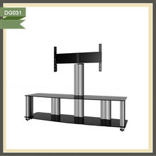 2012 year new LCD/Plasma tempered glass tv stand designs for living room furniture DG031