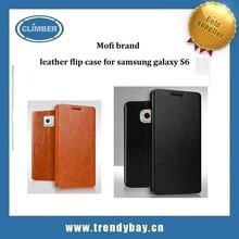 Mofi Wholesale case leather flip case for samsung galaxy S6