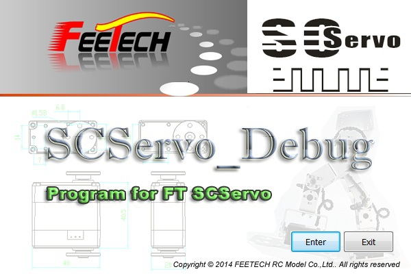 USB interface Programming for FEETECH smart control robot Servo FE-SCPC-2
