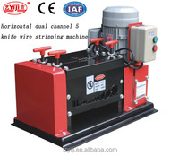 1.5mm-38mm electric wire cable cutting stripping machine Horizontal Dual channel 5 knife wire stripping machine