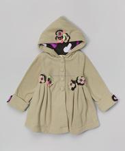 Campione gratuito spese per oem service crema floreale dolce ragazze inverno z-oc80627-11 abbigliamento in pile