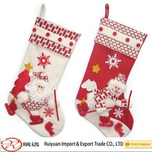 Wholesale Hot Sale Christmas Stocking With Santa Claus