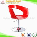 Plástico vermelho rotativo usado cadeiras do salão de beleza vendas baratos