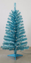 Decorative Colorful Tinsel Christmas Tree