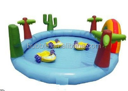 Custom made inflatable water pool, huge pools inflatable with logo printing