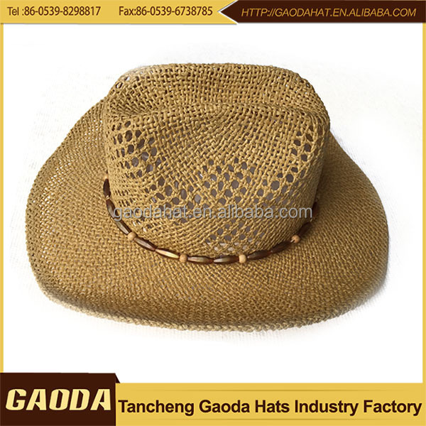 Knitting Pattern Cowboy Hat : Paper Knitted Straw Cowboy Hats - Buy Cowboy Hats,Cheap Straw Cowboy Hats,Mak...