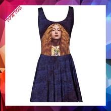 latest OEM digital printing new fashion ladies dress
