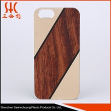 Hardware real wood and bamboo mobile phone case for iphone 6/iphone 6 plus
