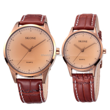 New design cheap leather strap sport wrist watch