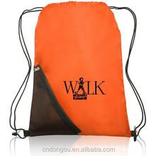 Promotional nylon drawstring bag promotional cheap printed logo shopping bags,cheap drawstring bag
