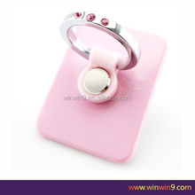 Luxury Diamond Rose Ring Shape Phone Holder
