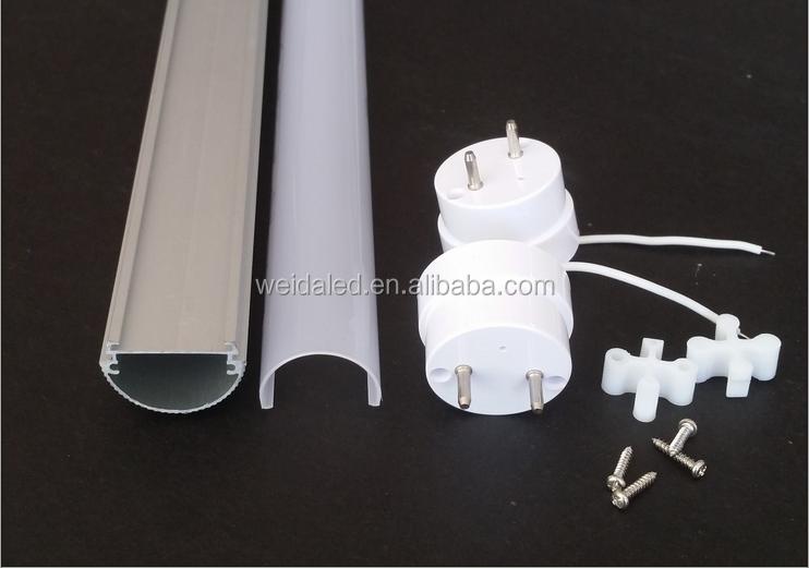 알루미늄 + 플라스틱 t8 led 튜브 부품