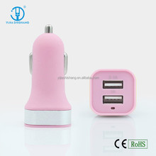 Bulk Buy From China Promotional USB Car Charger 3.1A Bullet Car Charger With Two USB Ports