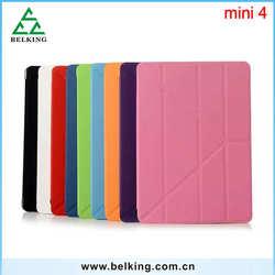 For iPad Mini 4 Leather PC Case, Folio PU Multi Foldingng Stander Leather Case For iPad Mini 4 Tablet