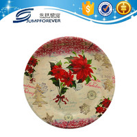 Plastic round dish for christmas flower