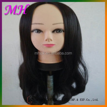 Black Central Parting Half Straight&Half Wave High Temperature Silk Wig