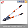 PTFE Coated + Electroplated Telescopic 65Mn Carbon Steel Garden Ratchet Pruning Shears With Aluminium Alloy Handle