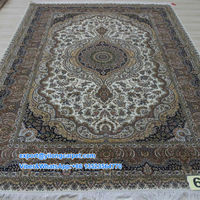 6'x9' Persian Handmade Silk Carpet for Sale Beautiful Art Design