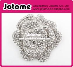 Large Rhinestone Gold/ Silver Rose Brooch, Wedding Brooch Bouquet for Bridal Bridesmaid gift
