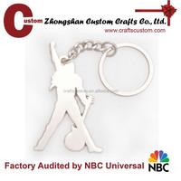 Custom silver plate blank key ring