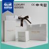 Custom logo white art paper jewelry gift box packaging