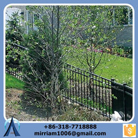 Iron Fence Panel 4ft 5ft 6ft 8ft High 3 Rail, Pressed Point Picket Top fence