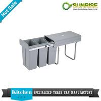 handmade plastic clear cheap kitchen cabinet waste bin