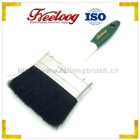 Promotional double colored handle oil absorbing brush, pure bristle wall paint brush