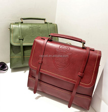 Woman PU leather backpack / handle bag / shoulder bags with flap long strip