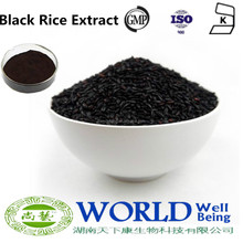 Hot Selling Black Rice Extract Powder 95% Anthocyanin Powder Black Rice Extract Pure Anthocyanin