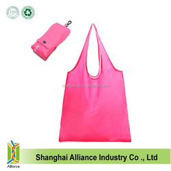 Customized reusable 190T polyester foldable shopping bag