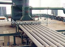 100% new chinese steel pipe inner wall pipe sandblast cleaning machine