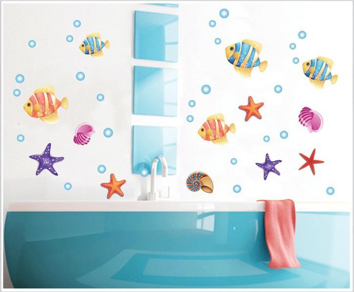 Decoratie Badkamer Muur : ... muur stikers voor kinderkamer badkamer ...