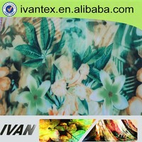 IVAN Textile Wholesale Single Jersey Paper Printed 95 Polyester 5 Elastane Scuba Knit Fabric for fashion woven dress