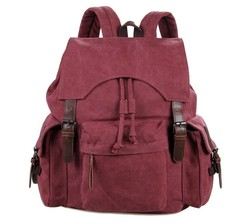 9017P 2015 New Product Fashion Canvas Backpack for Teenage Girls