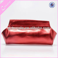 Small Cheap Black PU Leather Cosmetic Bag / Cosmetic Pouch