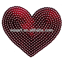 Heart Seal Sequin Embroidery Patch Transfer motif