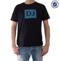 China Flashing Custom design sound activated programmable led t shirt