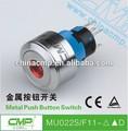 16 mm o 22 mm pulsador interruptor de la luz