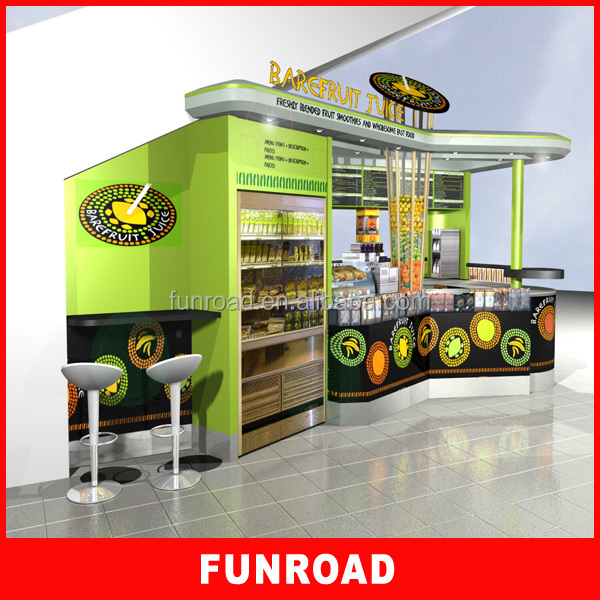 Modern design wooden fast food kiosk display for mail shop decoration buy c - Decoration snack moderne ...