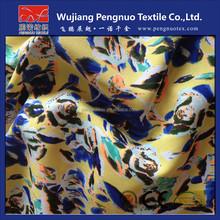 silk chiffon floral printed fabric for long dress chiffon new style