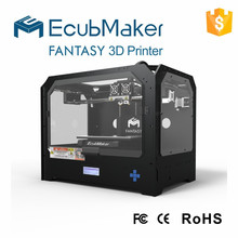 EcubMaker New arrival brand new UP Multi-functional 3D printer,high quality 3D double extruder source,ABS extrusion machine